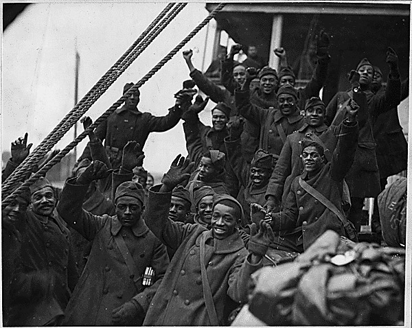 New York's famous 369th regiment arrives home from France, 1919.