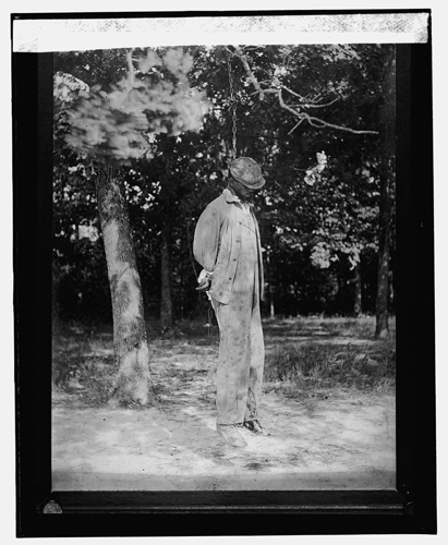 Lynching victim, 1925.