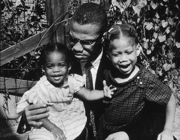 Malcolm X with Family, 1963.