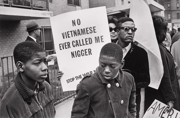 Demonstrators at the Harlem Peace March to End Racial Oppression, 1967.