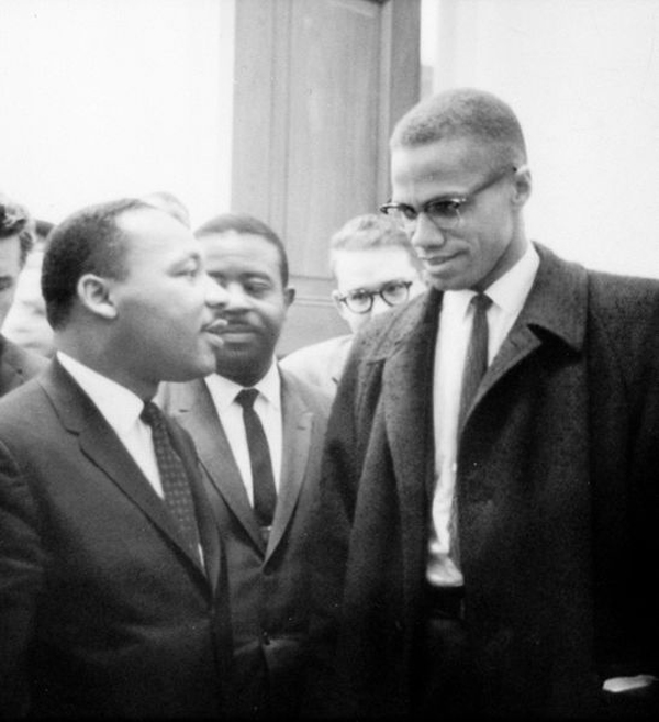 Martin Luther King, Jr. and Malcolm X meet during a Senate Debate on the Civil Rights Act of 1964.