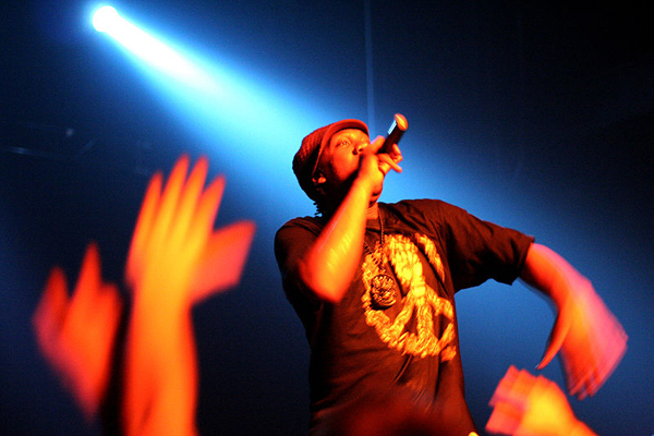 KRS-One performs.
