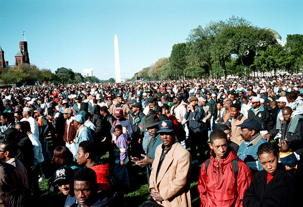 Million man march, Washington DC, 1995.