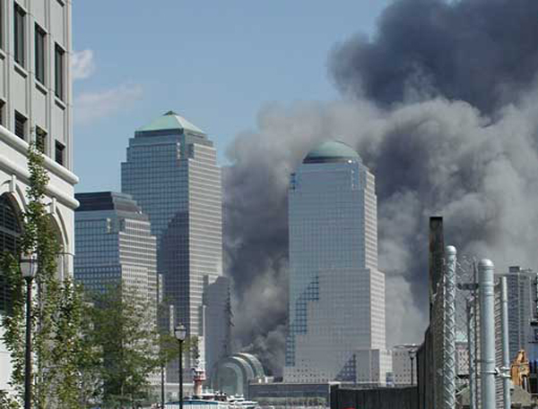 September 11, 2001 attacks as seen from Jersey City.