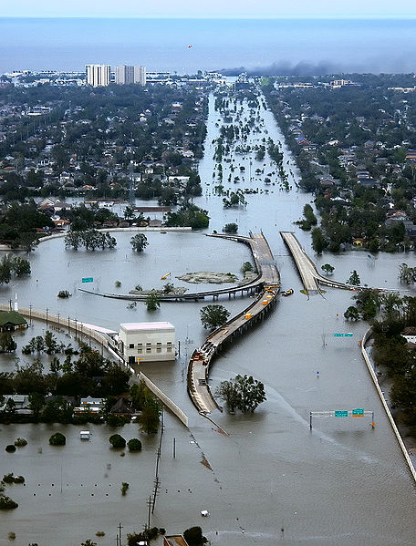 New Orleans, Louisiana in the aftermath of Hurricane Katrina, August 2005.
