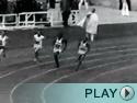 Jesse Owens in 1936 Olympics.